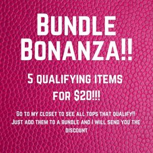 5 for $20 - On all qualifying items